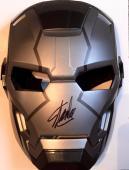 Stan Lee Signed War Machine Iron Man 1 2 3 Costume Mask W/ Stan Lee Hologram