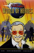 Stan Lee Signed World Of Heroes 11x17 Photo PSA/DNA X82071 Auto Autograph Marvel
