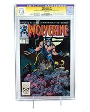 Stan Lee Signed Wovlerine #1 Chris Claremont CGC 7.5 Marvel