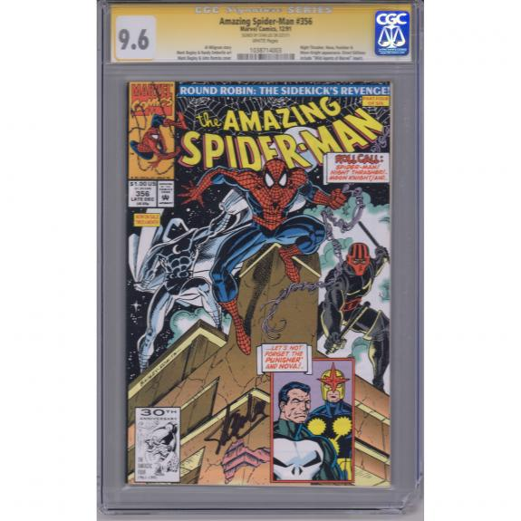 Stan Lee Spider-Man Autographed Spider Man #356 Comic Book - CGC Graded 9.6