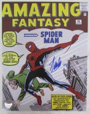 Stan Lee Spiderman Amazing Fantasy Signed 11x14 Inch Photo LEE HOLO SLC54180