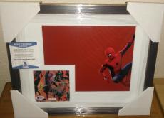 Stan Lee Spiderman Marvel Signed Autograph 13x16 Matted Framed Bas Beckett Coa A