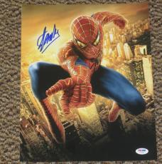 Stan Lee Spiderman Signed 11x14 Photo Autograph Avengers Dc Comics Psa/dna V7263