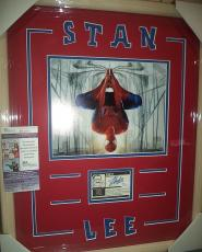 Stan Lee Spiderman Signed Autograph Trading Card Double Matted & Framed Jsa Coa