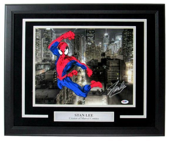 Stan Lee Spiderman Signed/Autographed 11x14 Photo Framed PSA/DNA 149229
