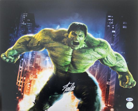 Stan Lee The Hulk Signed 16x20 Photo Autographed BAS #B78590