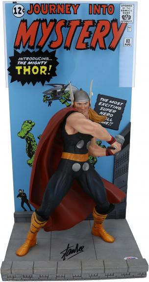 Stan Lee Thor Autographed Journey Into Mystery #83 Statue - PSA
