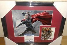 Stan Lee Thor Marvel Signed Autograph 13x16 Matted Framed Bas Beckett Coa B