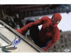 Stan Lee & Tobey Maguire Spider-Man Signed 11X14 Photo PSA #3A66513