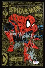 Stan Lee & Todd McFarlane Signed Spider-Man 1990 Torment #1 Comic W/ Sketch PSA