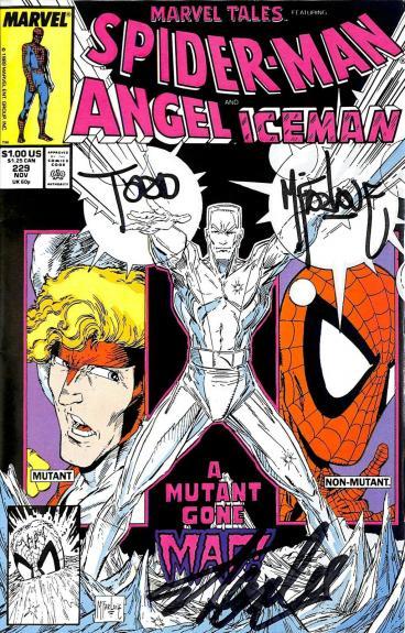 Stan Lee & Todd McFarlane Signed Spider-Man Angel Iceman Comic #229 BAS #E35331