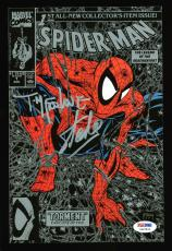 Stan Lee & Todd McFarlane Signed Spider-Man Torment #1 Comic Silver Cover PSA