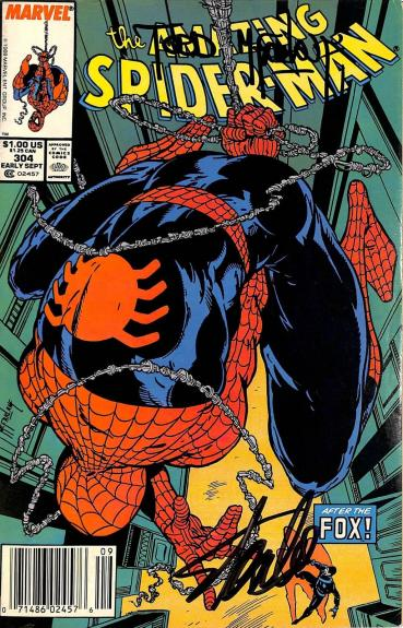 Stan Lee & Todd McFarlane Signed The Amazing Spider-Man #304 Comic BAS #E35335