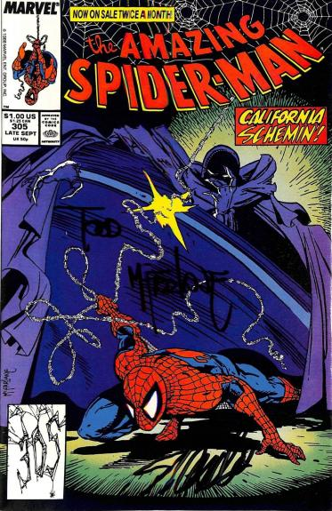 Stan Lee & Todd McFarlane Signed The Amazing Spider-Man #305 Comic BAS #E35333