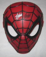 Stan Lee Twice Signed Marvel Spider-man Hero Mask Jsa Coa