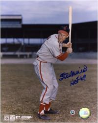 Stan Musial Autographed St. Louis Cardinals 8x10 Photo - HOF 69