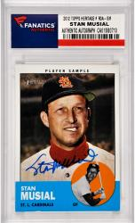Stan Musial St. Louis Cardinals Autographed 2012 Topps Heritage #ROA-SM Card