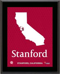 "Stanford Cardinal Sublimated 10.5"" x 13"" State Plaque"
