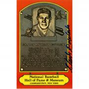 Stanley Coveleski Signed Dexter Press Hall of Fame Plaque Postcard JSA
