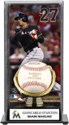 Giancarlo Stanton Miami Marlins Baseball Display Case with Gold Glove & Plate - Mounted Memories