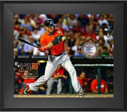 "Giancarlo Stanton Miami Marlins Framed 20"" x 24"" Gamebreaker Photograph with Game-Used Ball"