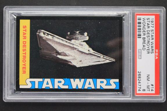 Star Destroyer 1977 Star Wars Wonder Bread #14 NM-MINT PSA 8