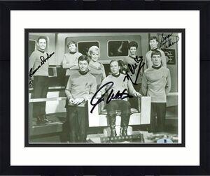Star Trek (4) Shatner, Nichols, Takei +1 Signed 8x10 Vintage Photo BAS #A00320