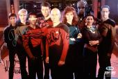 Star Trek (9) Stewart, Dorn, Sirtis +6 Signed 10x15 Photo BAS #A11115