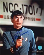 Star Trek Bridge Autographed by Spock Actor Leonard Nimoy 8x10 Photo