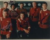 Star Trek Cast Signed Autographed Photo Jsa Coa Leonard Nimoy Deforest Kelley