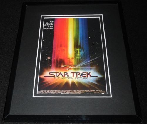 Star Trek Framed 8x10 Repro Poster Display William Shatner Leonard Nimoy
