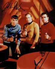 Star Trek Signed Nimoy/Shatner/Doohan Autographed 8x10 Photo PSA/DNA #Y05059