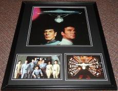 Star Trek the Movie Framed 16x20 Photo Display William Shatner Leonard Nimoy