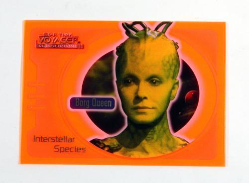 Star Trek Voyager Closer to Home Interstellar Special Glow Orange Borg Queen IS8