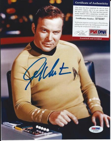 Star Trek WILLIAM SHATNER Signed Captain James T Kirk 8x10 Photo PSA/DNA COA
