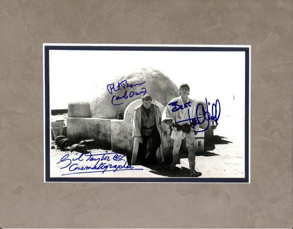 Star Wars (3) Mark Hamill, Brown & Taylor  Signed 8x10 Matted Photo JSA #U07812