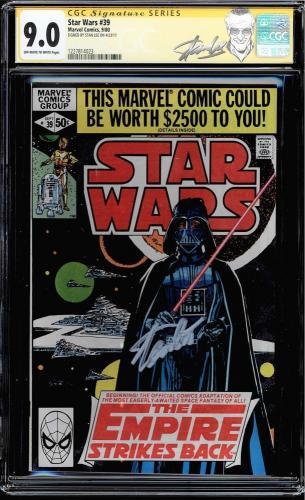 Star Wars #39 Cgc 9.0 Oww Ss Stan Lee Signed New Label Cgc #1227814023