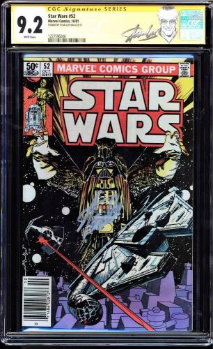 Star Wars #52 Cgc 9.2 White Pages Ss Stan Lee Signed New Label Cgc #1227596006
