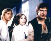 Star Wars 8x10 photo Carrie Fisher, Mark Hamill, and Harrison Ford (Luke Skywalker, Han Solo, Princess Leia Organa)