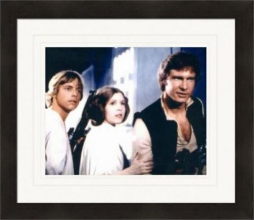 Star Wars 8x10 photo Carrie Fisher, Mark Hamill, and Harrison Ford (Luke Skywalker, Han Solo, Princess Leia Organa) Matted & Framed