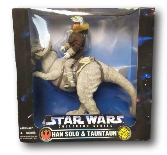 "Star Wars Action Collection Han Solo & Tauntaun Figurine 18"" NIB R52-5"