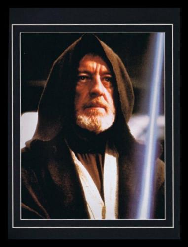 Star Wars Alec Guinness Obi Wan Kenobi Framed 11x14 Photo Display