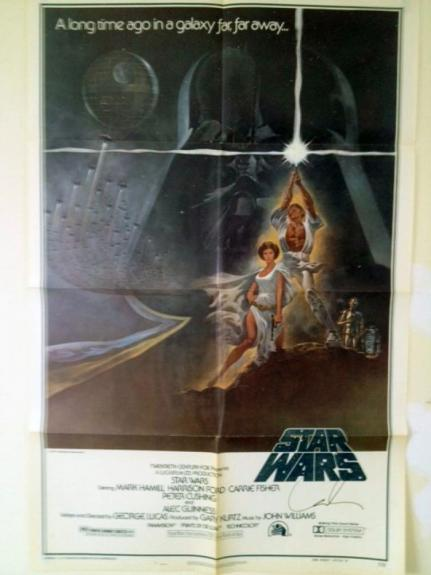 Star Wars Autographed Poster