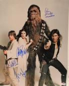 Star Wars Cast FORD, HAMILL, FISHER, MAYHEW Signed 16x20 Photo PSA/DNA #S14758