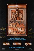 Star Wars Cast Framed Autographed Movie Poster with 8 Signatures - Damaged - PSA/DNA