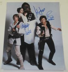 Star Wars Cast Signed 16x20 Photo Ford, Hamill, Fisher, Mayhew Proof Pic Psa Loa
