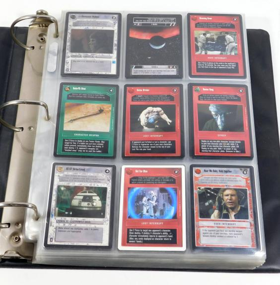 Star Wars CCG Card Game Binder of 349 Cards Nm-Mt