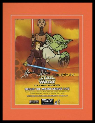 Star Wars Clone Wars 2003 Framed 11x14 ORIGINAL Vintage Advertisement
