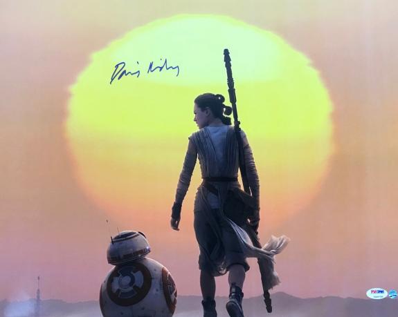 Star Wars Daisy Ridley Signed 16x20 Photo Psa/dna Graded Gem Mint 10 Autograph