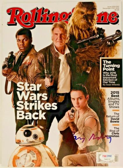 Star Wars Daisy Ridley Signed Rolling Stone Magazine PSA DNA Sticker Only